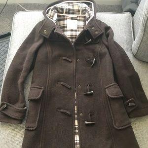 Women's small brown Old Navy pea coat